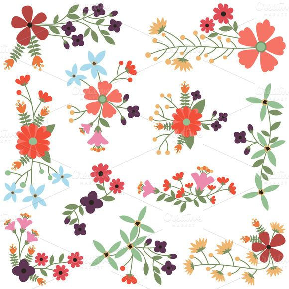Vintage Flowers Vectors And Clipart Flower Drawing Vintage Flowers Vector Flowers