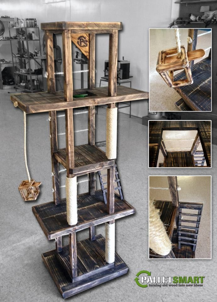 Cat gym made from recycled wood pallets various pallet - Ikea katzenmobel ...