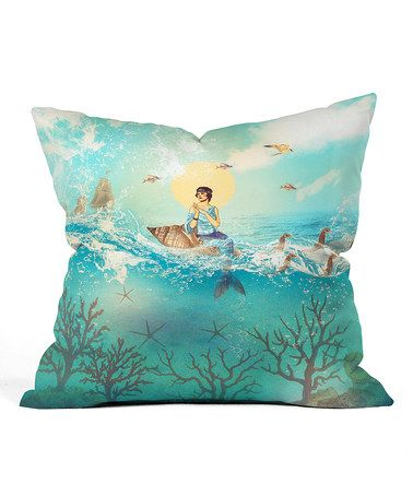 Look what I found on #zulily! The Queen Mermaid Throw Pillow #zulilyfinds