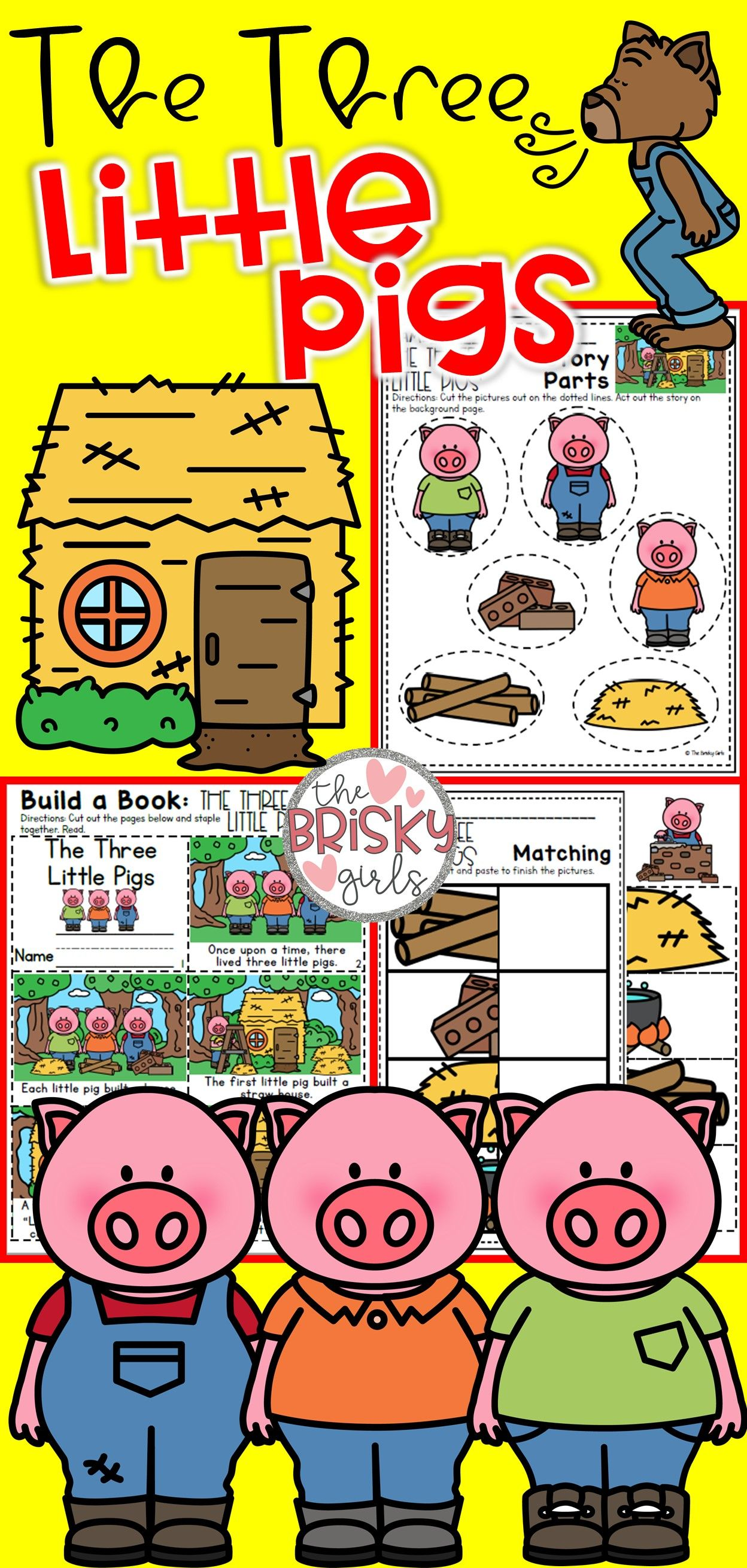 Fairy Tales Kindergarten The Three Little Pigs Activities