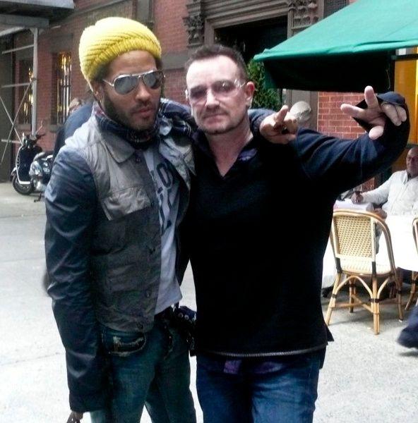 Bono and Lenny Kravitz | photography pics | Lenny kravitz