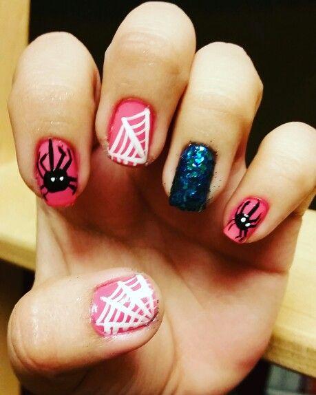 Pink halloween nails | Nails, Halloween nails, Pink halloween