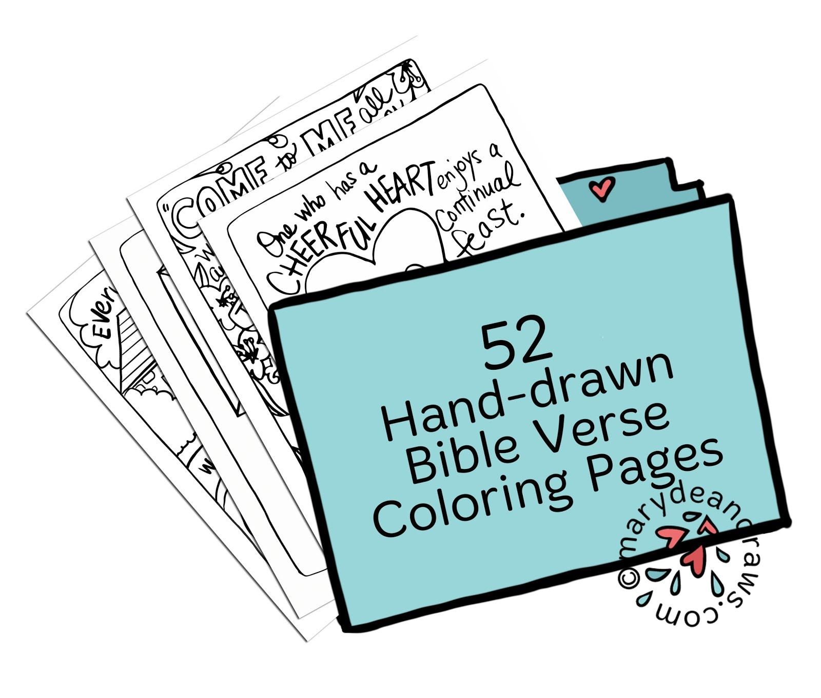 Hand-drawn Bible Verse Coloring Pages Collection from the Marydean ...
