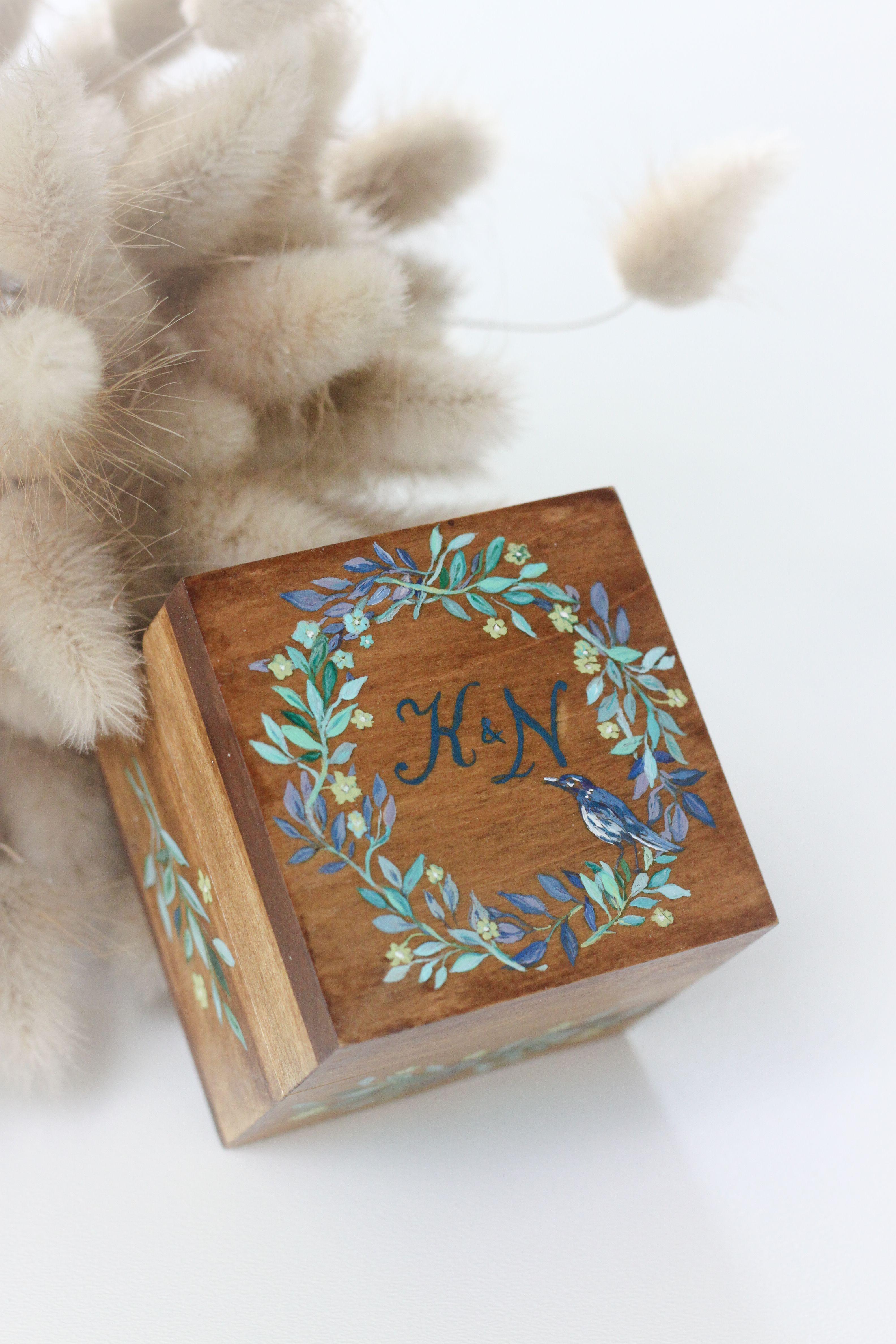 c0419b60b5a0 Свадебные шкатулки для колец ◈ Авторский Киоск Шкатулка под кольца на  свадьбу на заказ. Натуральное