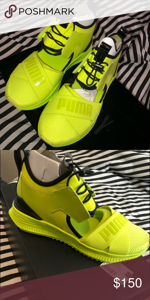 2e3ec1ee7a2 Puma Avid Sneakers Bright Lime Green Puma Avid sneakers with black trimming.  Brand new never worn ! Fenty Shoes Sneakers