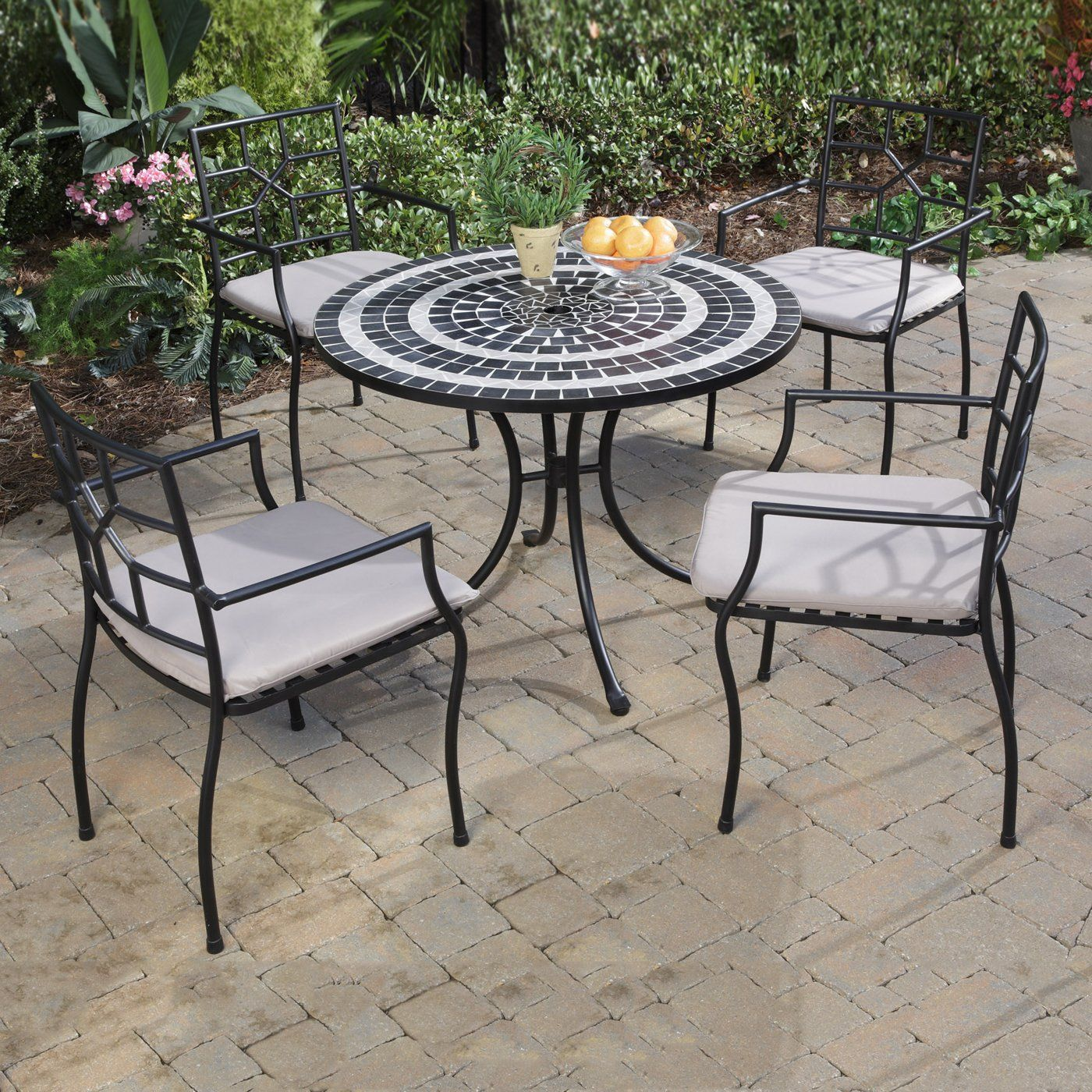 Cambria Patio Furniture.Home Styles 5602 3082 Delmar Table Cambria Chairs Outdoor Dining Set