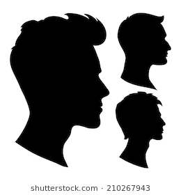 Man Face Silhouette Images Stock Photos Vectors Shutterstock Download Free Best Quality On Clipart Silhouette Face Silhouette Painting Silhouette Images