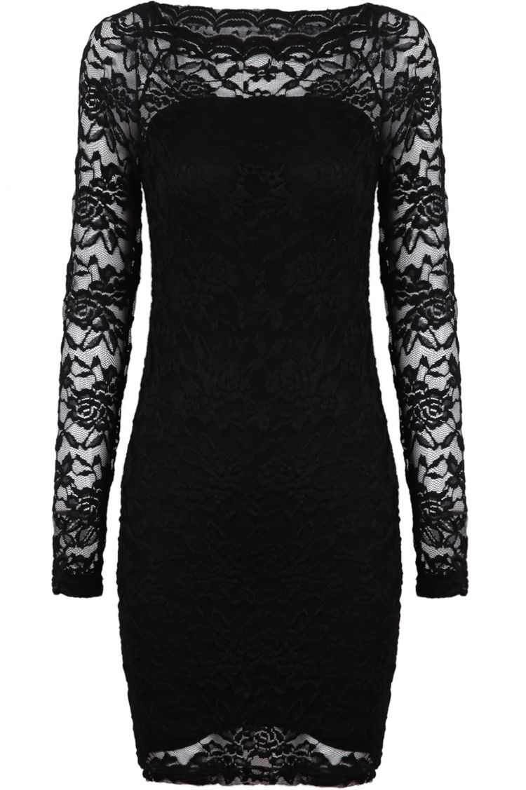 Black contrast lace long sleeve embroidered dress vestidos mama