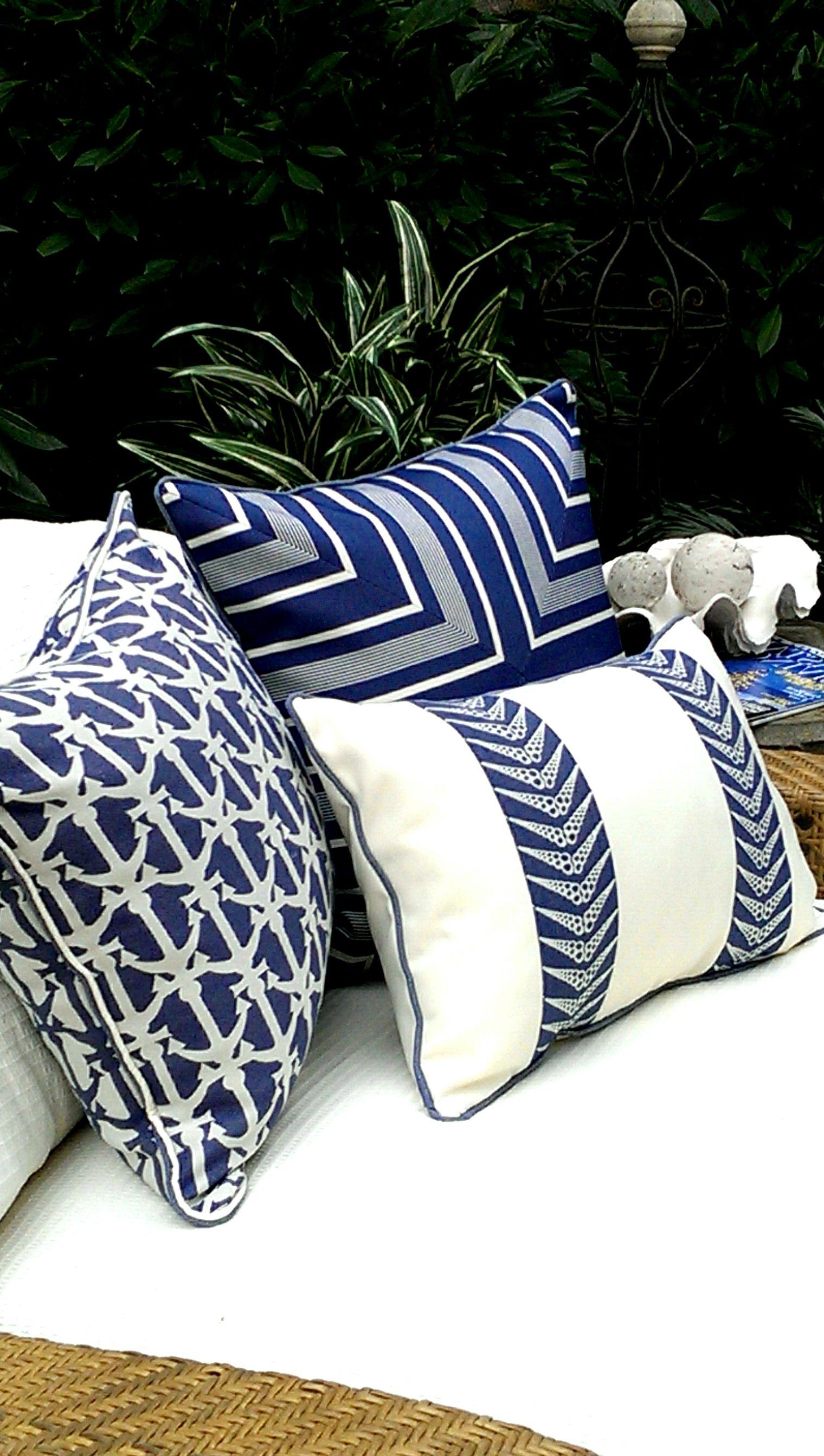 Karen Robertson Royalty Collection   Outdoor Pillows   Beach Pillows    Coastal Pillows   Coastal Home