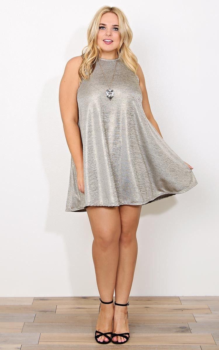 Plus Champagne Dreams Swing Dress Dresses Plus Size Shop