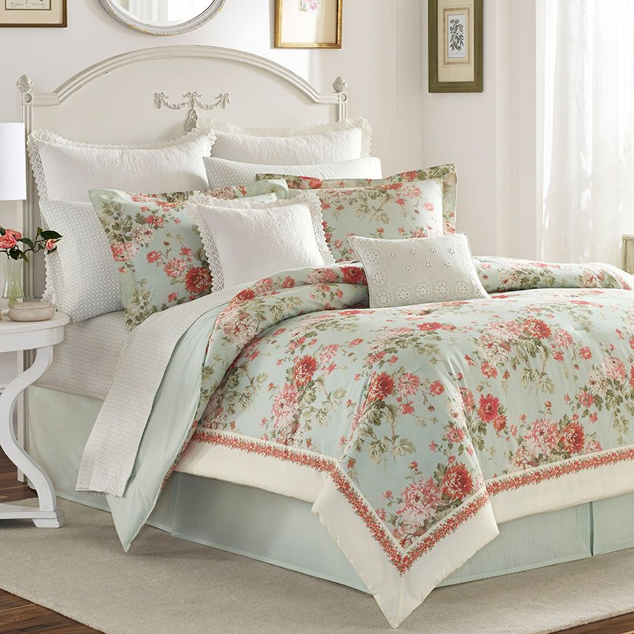 Laura Ashley Vivienne Comforter Set With Images Laura Ashley