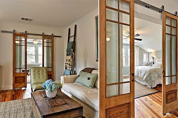 10 ideas para sumar una puerta estilo granero casa for Puertas interiores antiguas madera