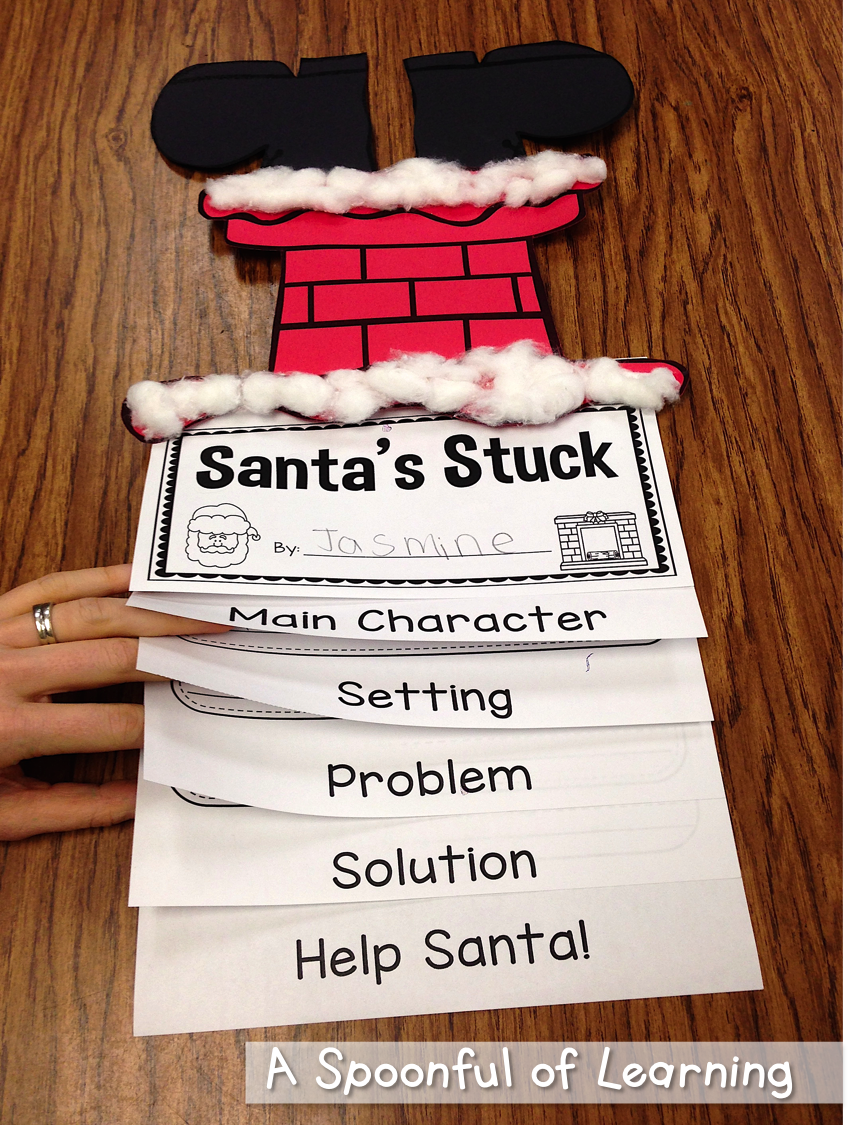 Christmas Craft Ideas For 2nd Graders Part - 39: Santau0027s Stuck Craft And Story Elements · 2nd Grade Christmas ...