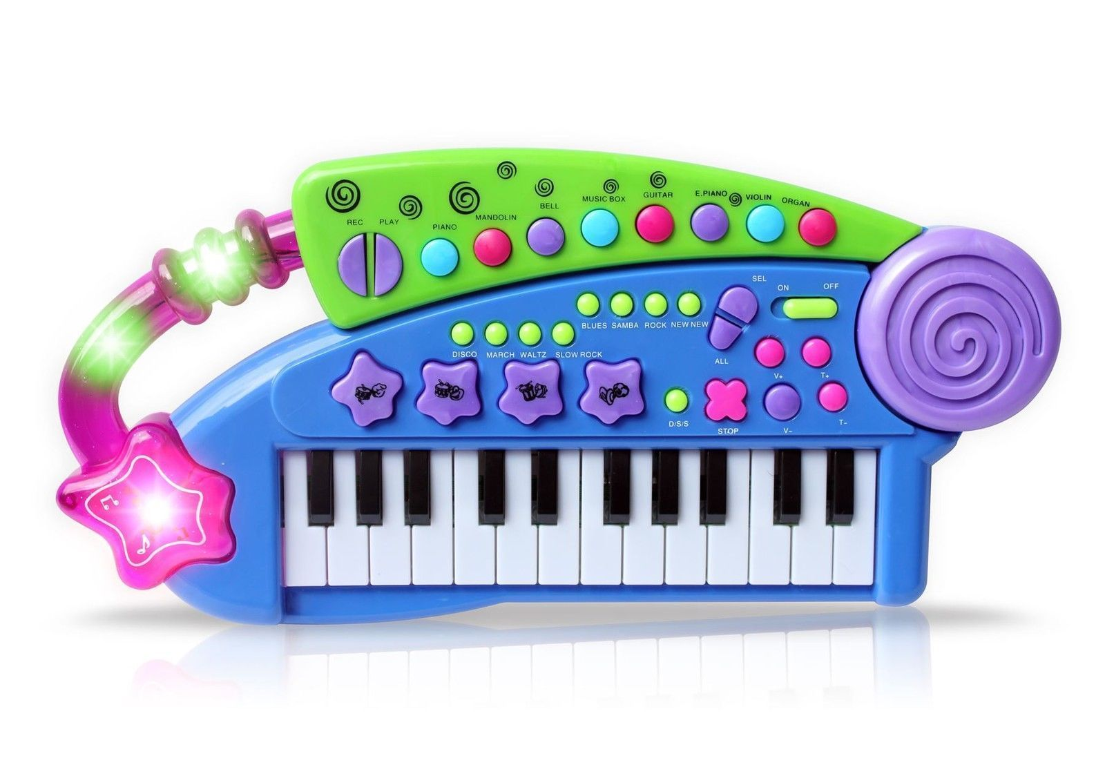 Kids keyboard piano with lights carry along musical
