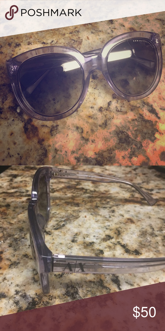 0e5b0c3f688f Armani Exchange Sunglasses Purple Clear Armani Exchange Sunglasses! Never  worn! Send me your best offer! Willing to trade for Prada Sunglasses Armani  ...
