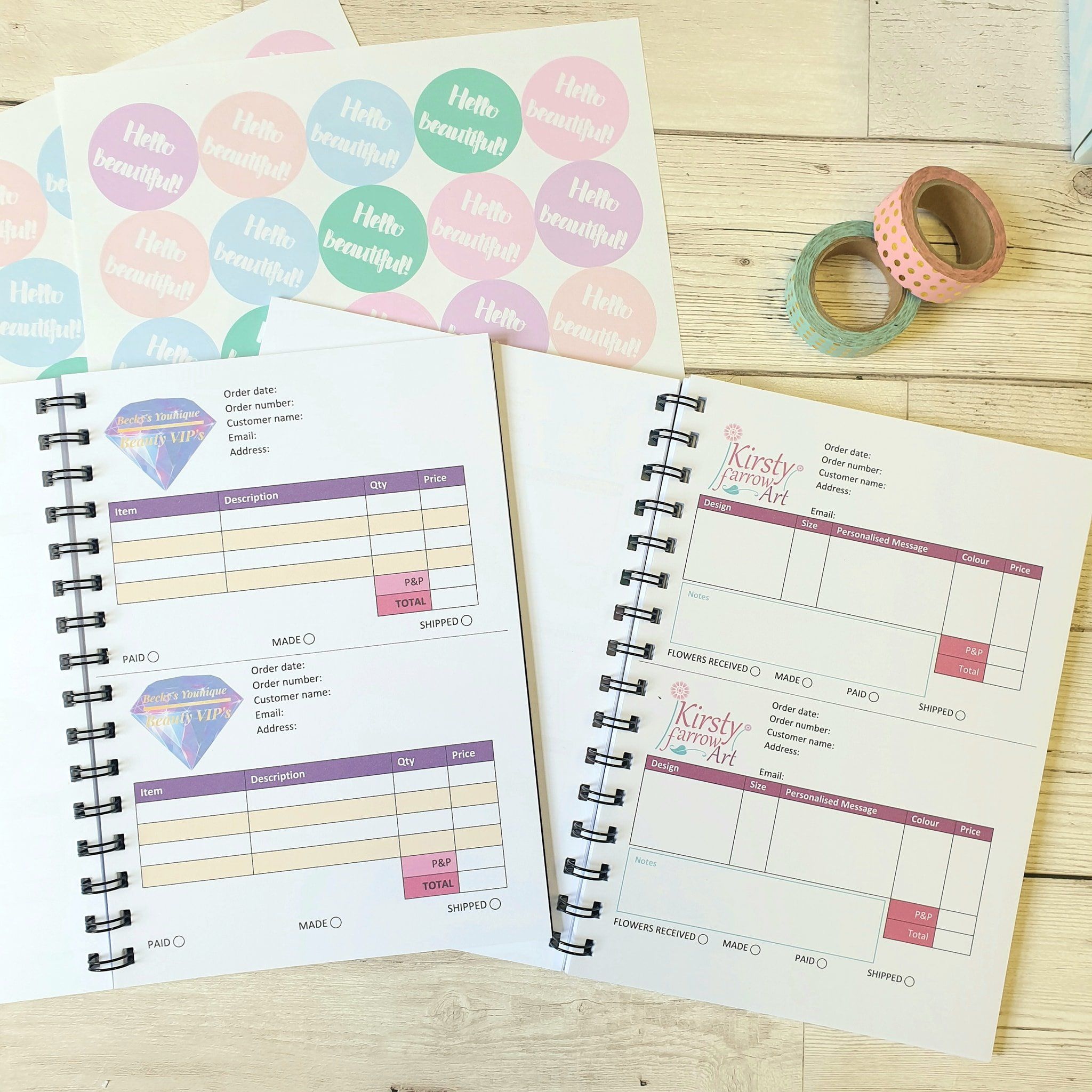 A5 Order Book One Or Two Orders Per Page Order Book Business Books Books