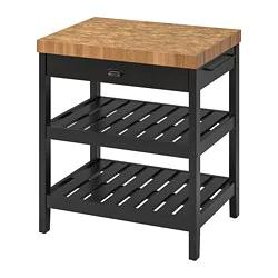 Best Vadholma Kitchen Island Black Oak 31 1 8X24 5 8X35 3 8 400 x 300