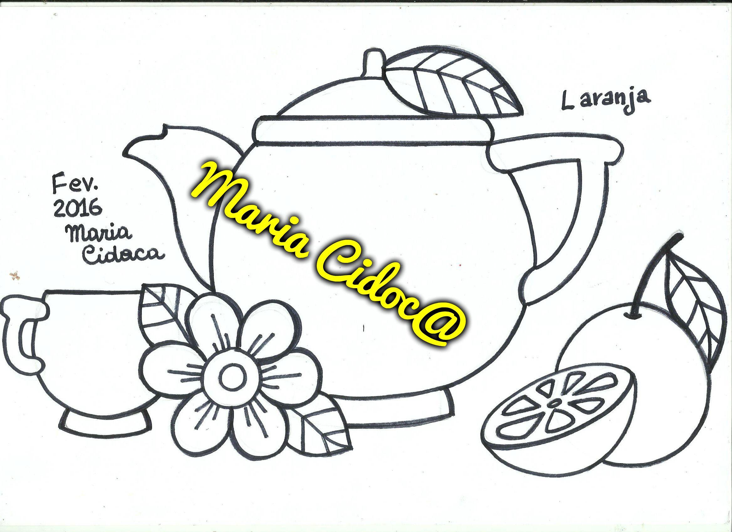 Bule Laranja Tetera Naranja Orange Tea Pot Disenos De Fruta Manteles Bordados A Mano Dibujos De Frutas