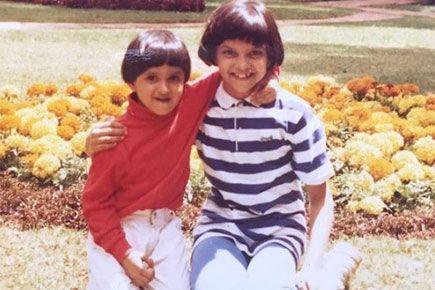 Aww Deepika Padukone Shares Cute Childhood Photo With Sister Anisha Childhood Photos Ranveer Singh