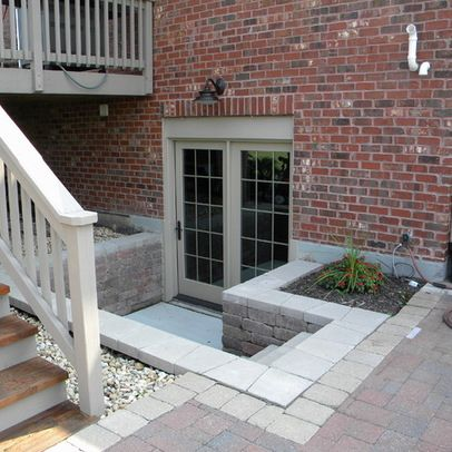 Traditional Basement Design Ideas Pictures Remodel And Decor Basement Entrance Walkout Basement Basement Doors