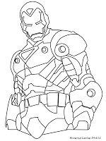 Iron Man 3 Dengan Gambar Buku Mewarnai