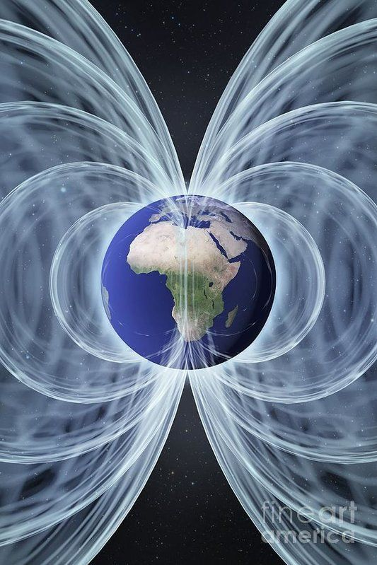 Earth Poster featuring the photograph Earth's Magnetic Field, Artwork by Science Photo Library