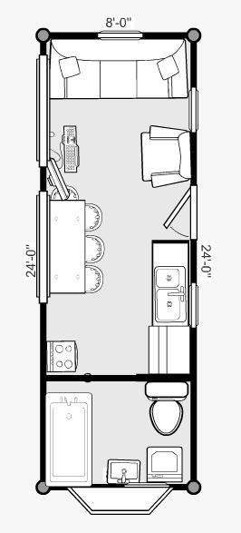 The Pre Trailer Floor Plan Tiny House Tiny House Trailer Plans Tiny House Trailer Tiny House Floor Plans