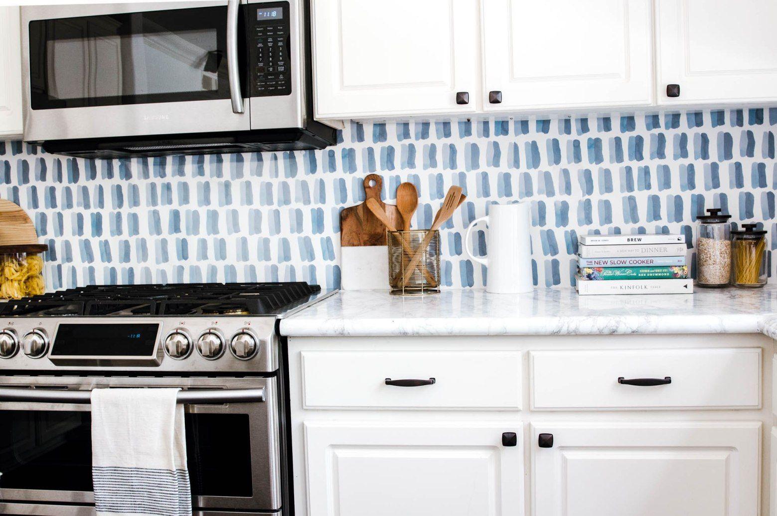 DIY Backsplash Wallpaper - Anita Yokota | Diy kitchen ...