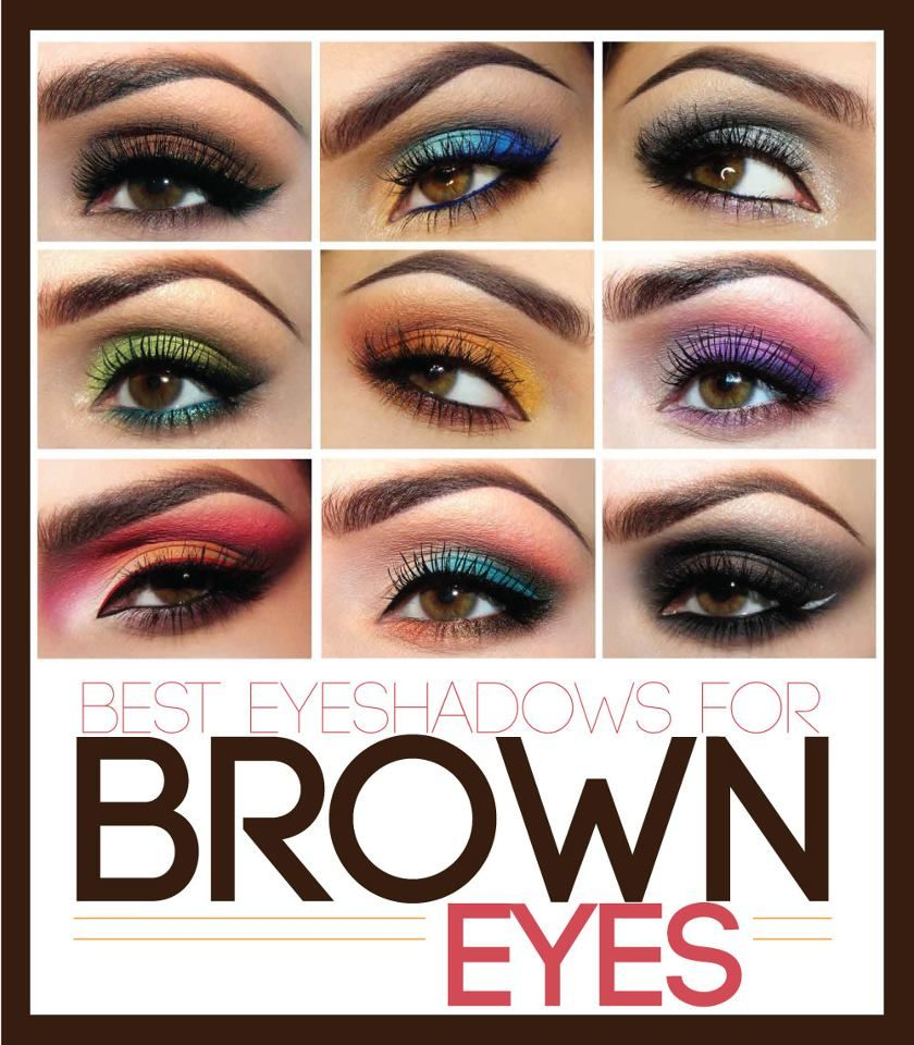 The Best Eyeshadow Colors For Brown Eyes So Basically All Of