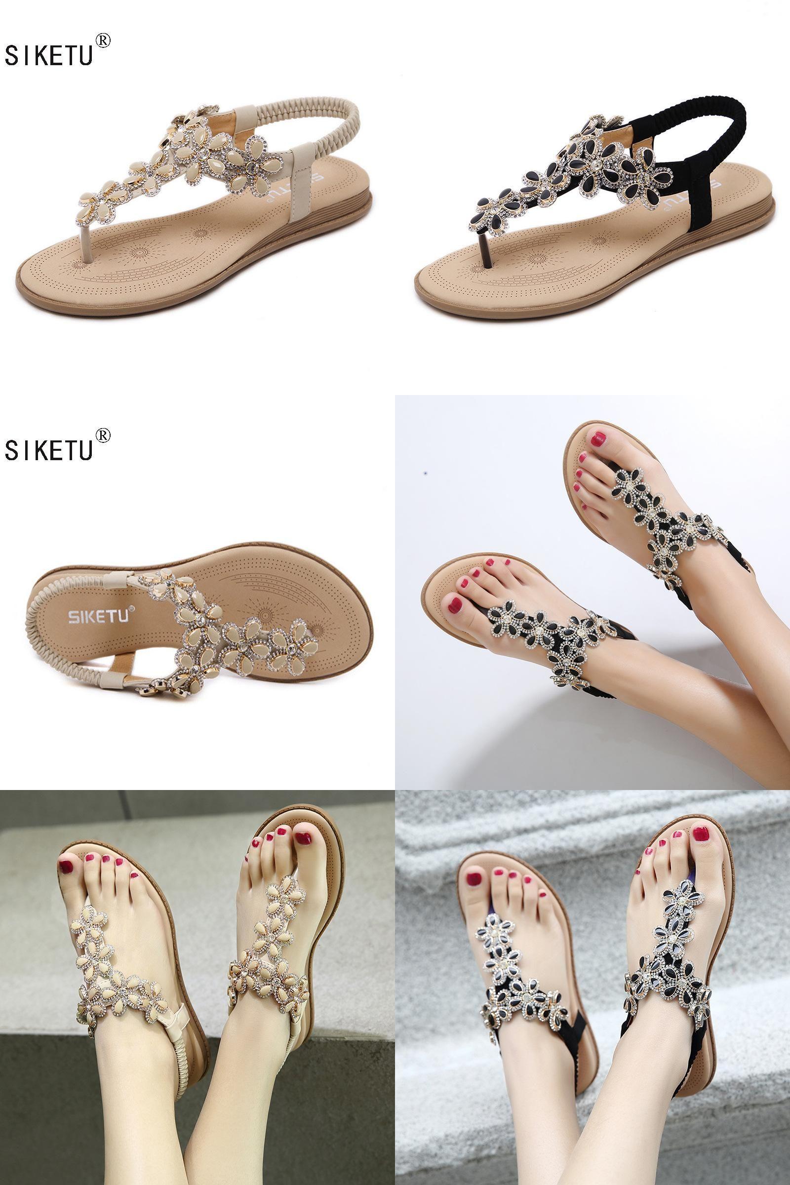 2b0d76247f8df [Visit to Buy] New Arrival 2017 Women Sandals Beaded Ladies Flip Flops  Bohemia Woman Shoes Comfort Beach Summer Flat Sandals Flat Shoes Woman  #Advertisement