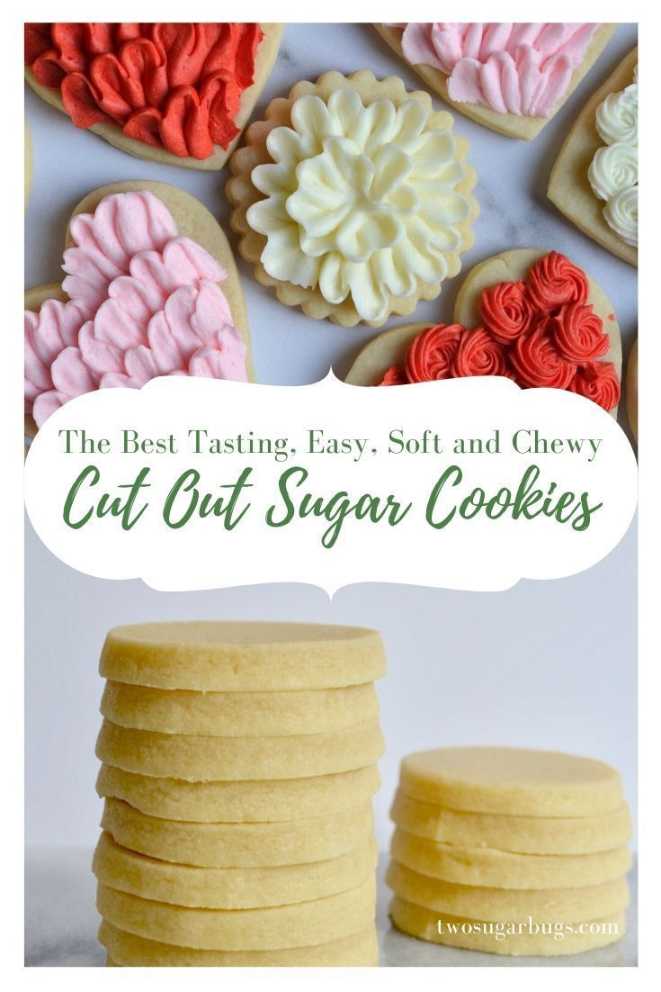 Always Perfect Sugar Cookies ~ This easy cut out sugar cookie recipe is the only one you will ever need!  The best tasting, softest, buttercream decorated cookies that hold sharp edges and come out perfect.  Every. Single. Time. ~ #sugarcookierecipe #cookierecipes #softsugarcookies #valentinesday #bestsugarcookies #cutoutcookies