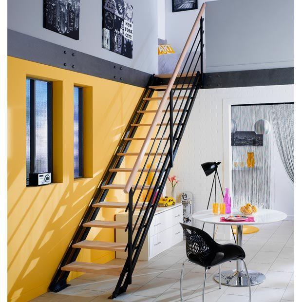 Echelle Gain De Place New York Hetre Escalier Renovation Maison