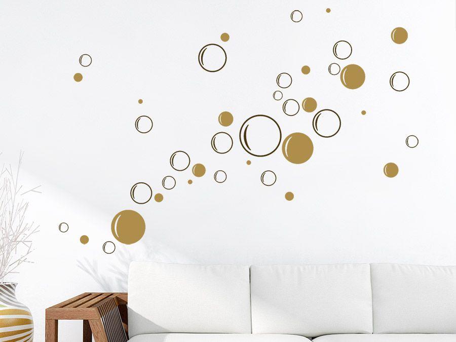 Bunte Seifenblasen Set zweifarbig Seifenblasen, Wandtattoo und - Wandtattoos Fürs Badezimmer