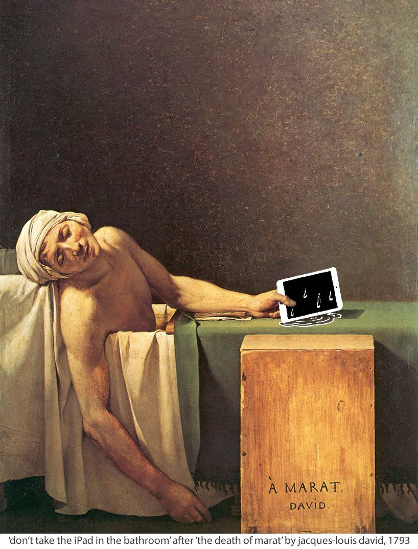 "Art Parodies - ""The Death of Marat"", Jacques-Louis David ..."