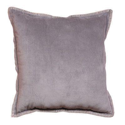 Intrade Global Cabana Royal Velvet Throw Pillow Color: Light Gray
