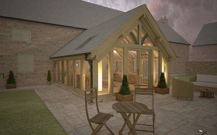 Véranda en bois pour valoriser sa maison et augmenter lu0027espace
