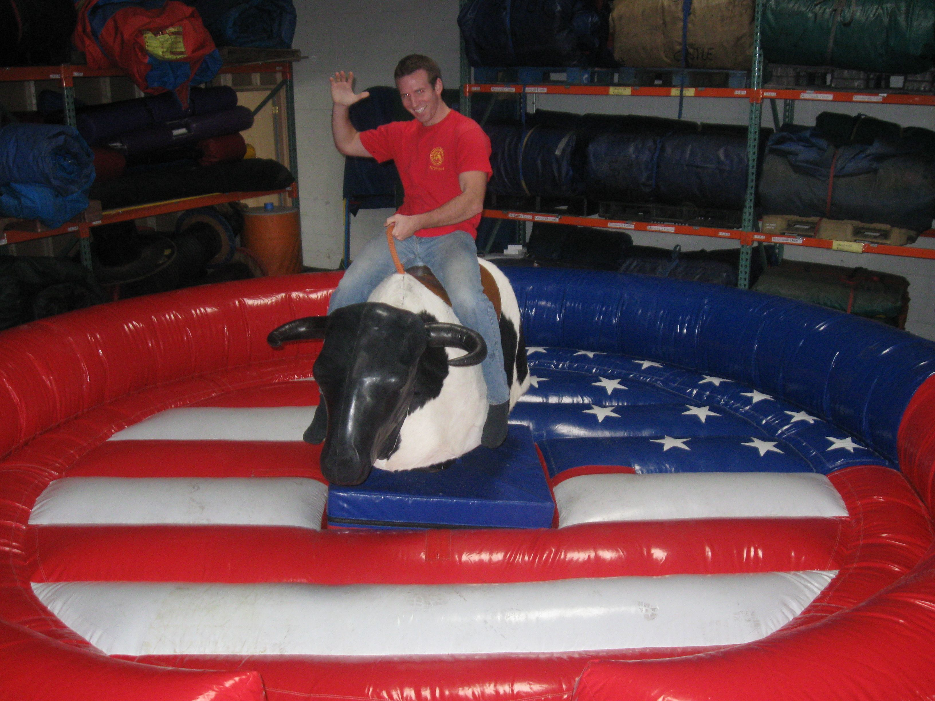 Mechanical bull ride rental an american themed mechanical
