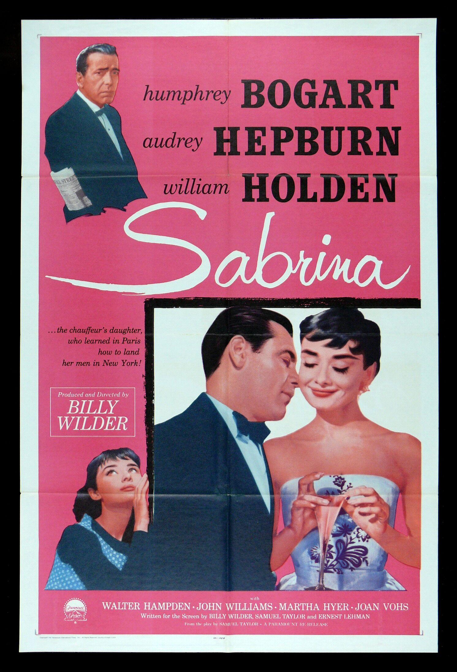 SABRINA * CineMasterpieces HUMPHREY BOGART AUDREY HEPBURN ...