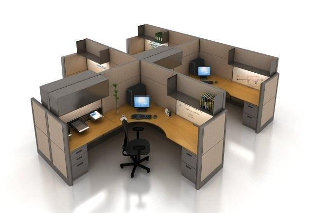 Selecting The Right Office Cubicle Wall Height Office Cubicle