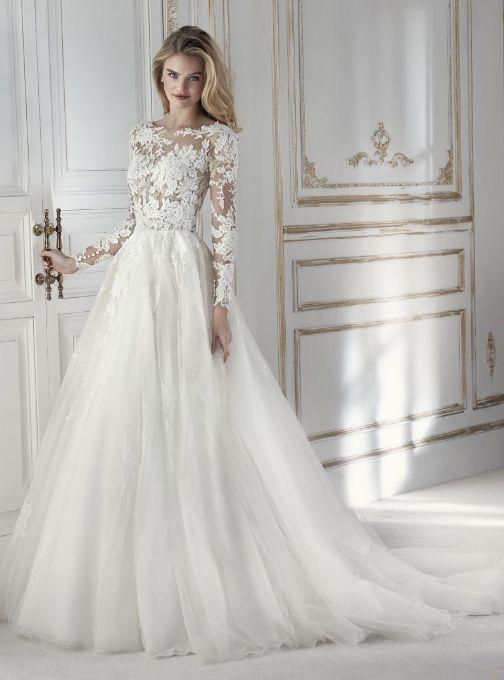 f5737d0ff543 Featured Wedding Dress  St Patrick LA SPOSA Collection  www.sanpatrick.com   Wedding dress idea.