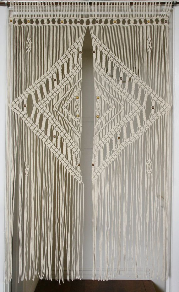 2.5 Mm Macrame Door Curtain With Large Diamond