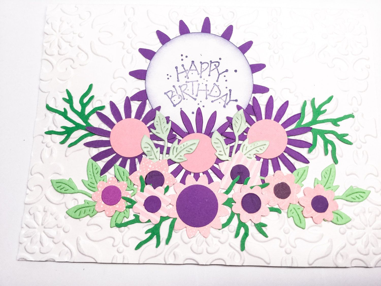 Pick your card stampin up handmade cards birthday cards stampin up handmade cards birthday cards white embossed pink flowers purple izmirmasajfo