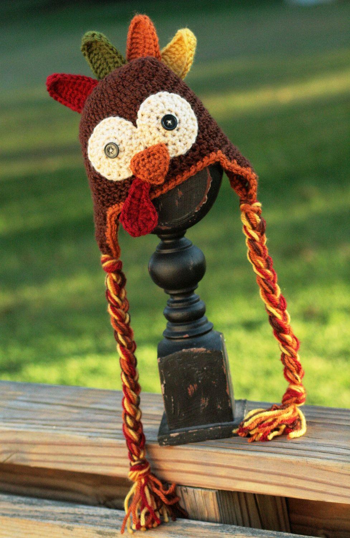 Crocheted turkey hat crochet and knitting pinterest turkey crocheted turkey hat pattern by scrapmadecreations on etsy bankloansurffo Gallery