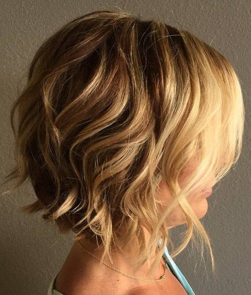 60 Most Delightful Short Wavy Hairstyles Short Wavy Hair Short Hair Styles Thick Hair Styles