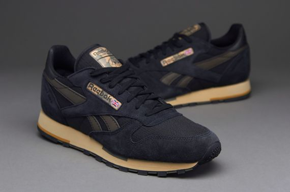 43d1372241c75 Reebok CL Leather Utility - Mens Select Footwear - Black-Charcoal  Brown-Chino-Canvas-Cement-Brass