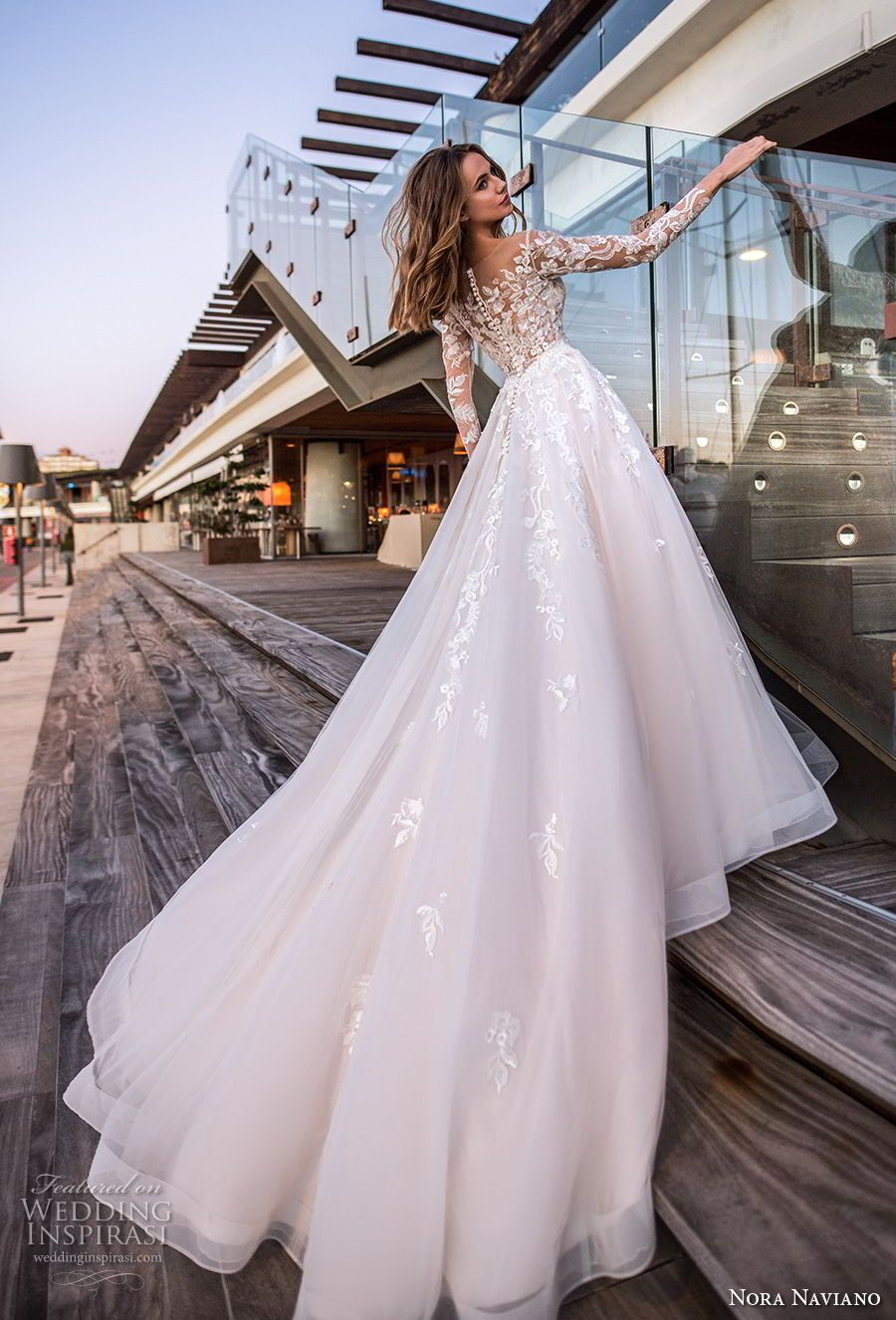 "Nora Naviano 2019 Wedding Dresses — ""Voyage"" Bridal Collection #romanticlace"