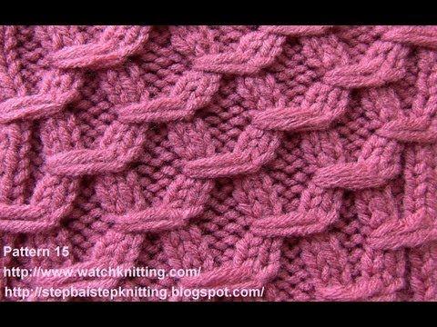 Hexagonal Embossed Patterns Free Knitting Patterns Tutorial