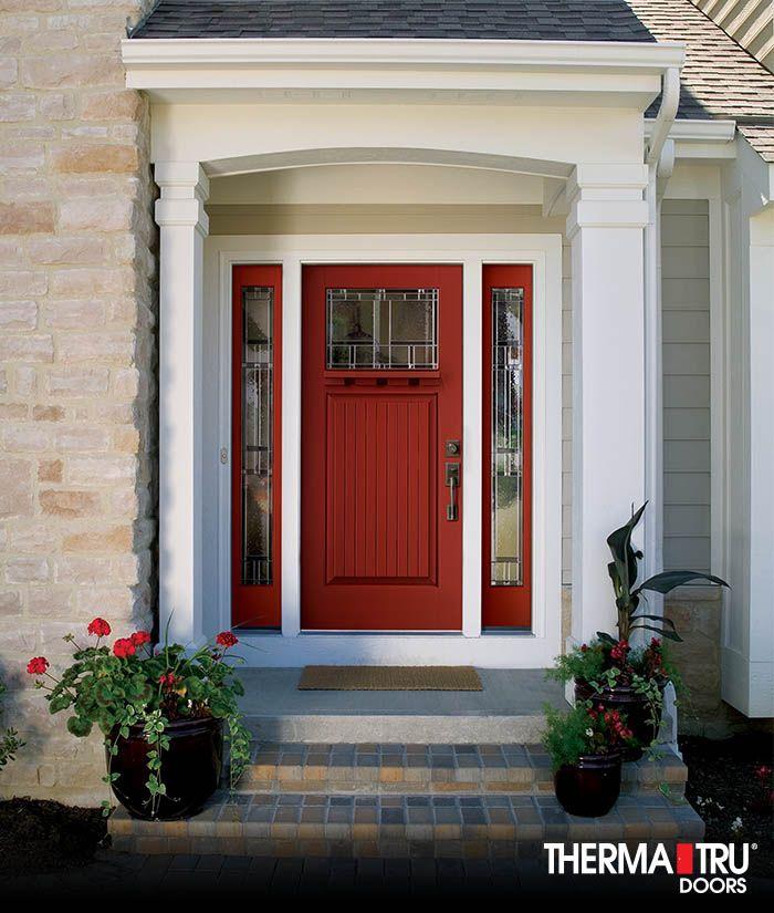 Therma-Tru entry door with Provia storm door | Fiberglass ... |Therma Tru Fiberglass Exterior Doors