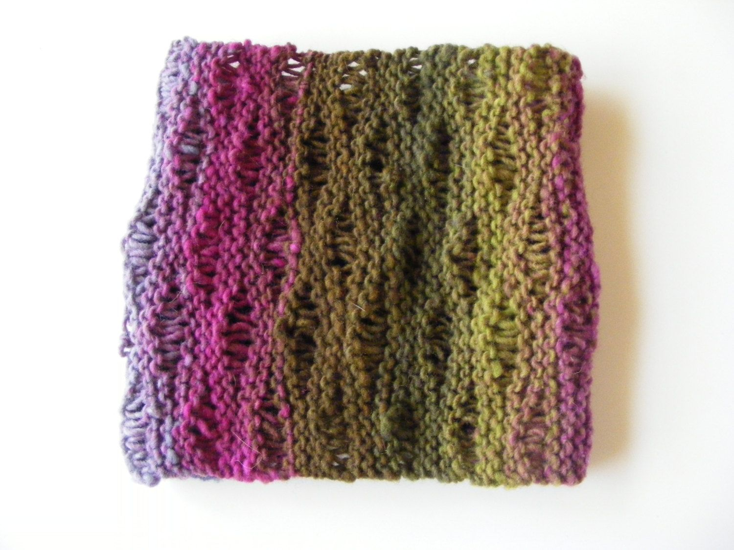 Open weave rainbow cowl by Nessbowify on Etsy | Noro yarn ...