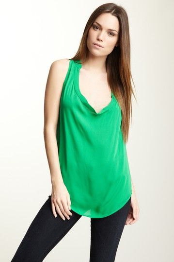 Sleeveless Cowl Silk Blouse by Haute Hippie on @HauteLook
